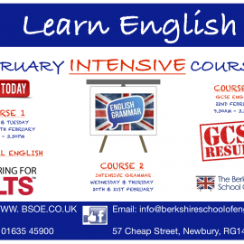 Learn English – Intensive Courses in February 2019