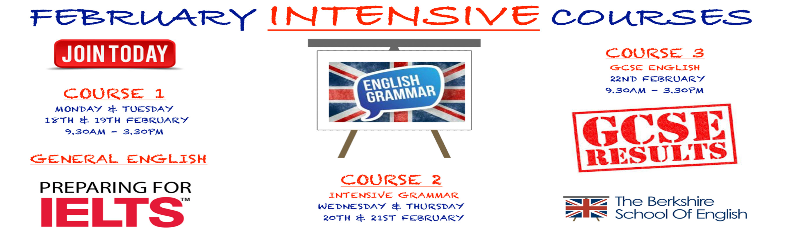 LEARN ENGLISH - Intensive Courses in February